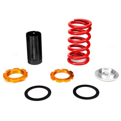 Adjust Red Scaled Coilover Spring+Silver Gas Shock Absorber TY33 For 88-91 Civic-Shocks & Springs-BuildFastCar