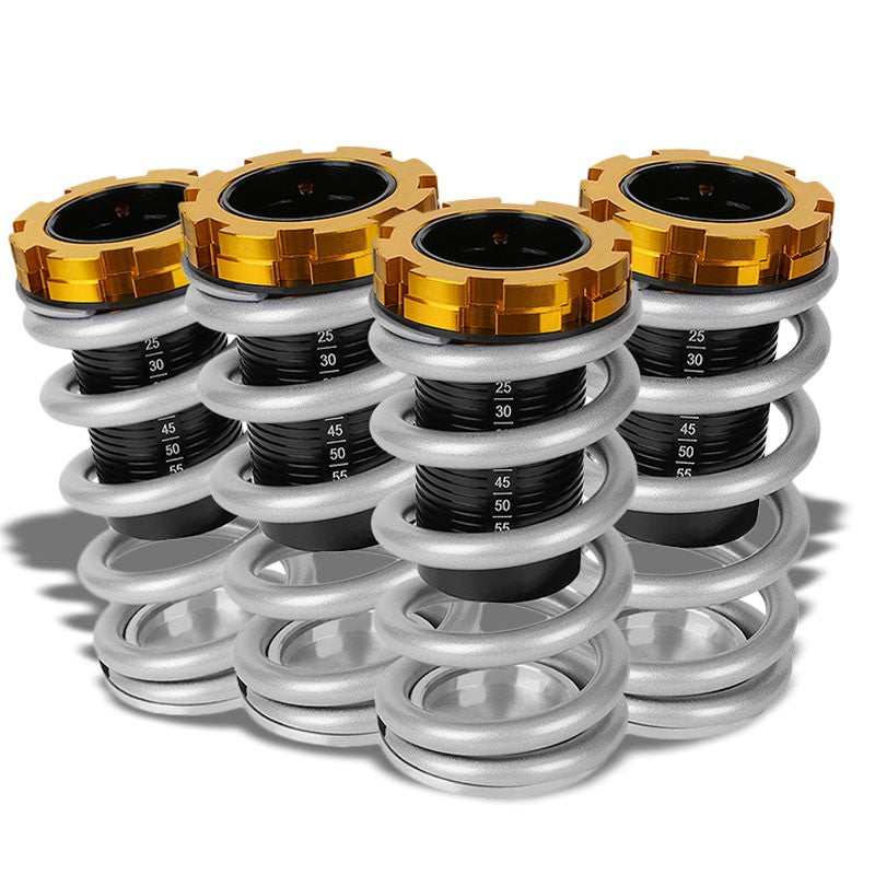 "Black/Silver Scaled 1""-4"" Adjust Lowering Coilover Spring TY33 For 90-01 Integra-Suspension-BuildFastCar"