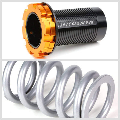 Adjust Silver Scaled Coilover Spring+Red Gas Shock Absorber TY33 For 96-00 Civic-Shocks & Springs-BuildFastCar