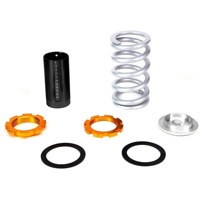 F/R Silver Scaled Coilover Spring+Black Gas Shock Absorbers TY33 For 96-00 Civic-Shocks & Springs-BuildFastCar