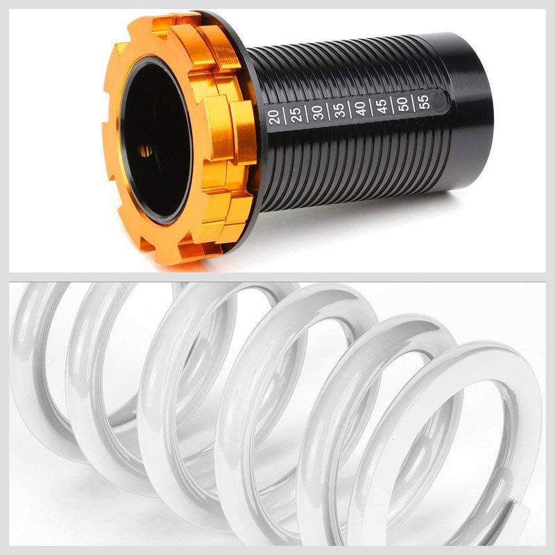 "Black/White Scaled 1""-4"" Adjust Lowering Coilover Spring TY33 For 90-01 Integra-Suspension-BuildFastCar"
