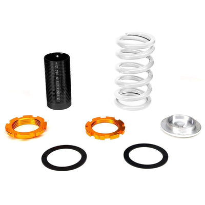 F/R White Scaled Coilover Spring+Silver Gas Shock Absorbers TY33 For 96-00 Civic-Shocks & Springs-BuildFastCar