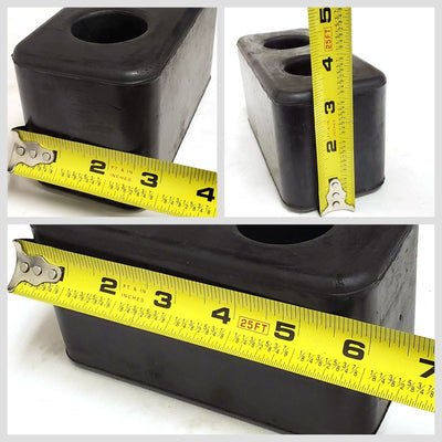 2x Molded Rubber Dock Bumper 6x2-7/8x3-1/4 For CHASSIS/TRAILER/VAN/FLATBED/TRUCK-Wheel Parts-BuildFastCar-BFC-MBUMP-02-X2