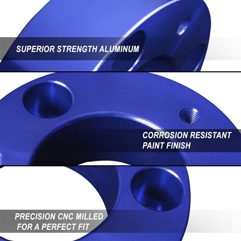 "Blue 1"" Drop Aluminum Front Differential Drop Spacers Kit For 97-04 Tacoma 4WD-Suspension-BuildFastCar"