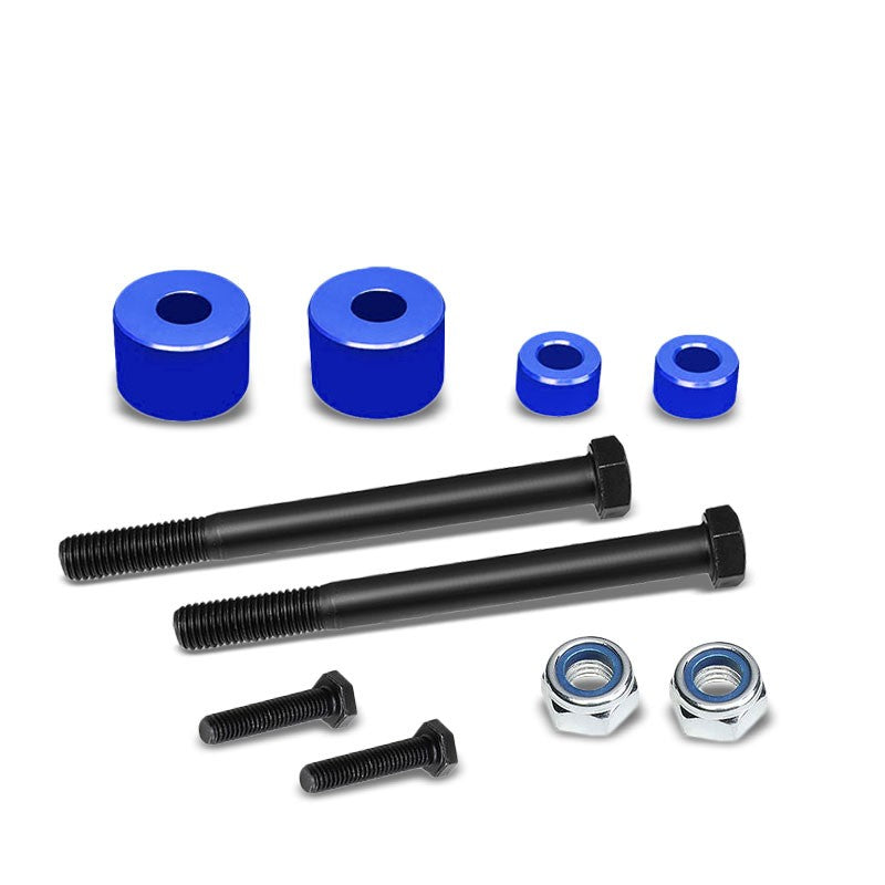 "Blue 1"" Drop Aluminum Front Differential Drop Spacers Kit For 05-17 Tacoma 4WD-Suspension-BuildFastCar"