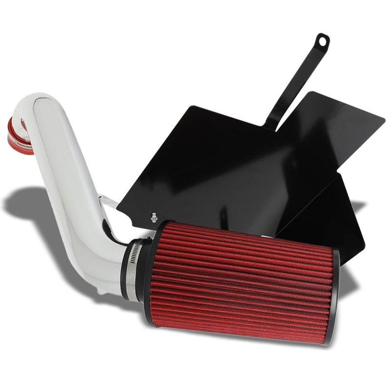 "3"" Polish Pipe+Filter Cold Air Intake Kit+Heat Shield For 02-03 Liberty 3.7L V6-Performance-BuildFastCar"