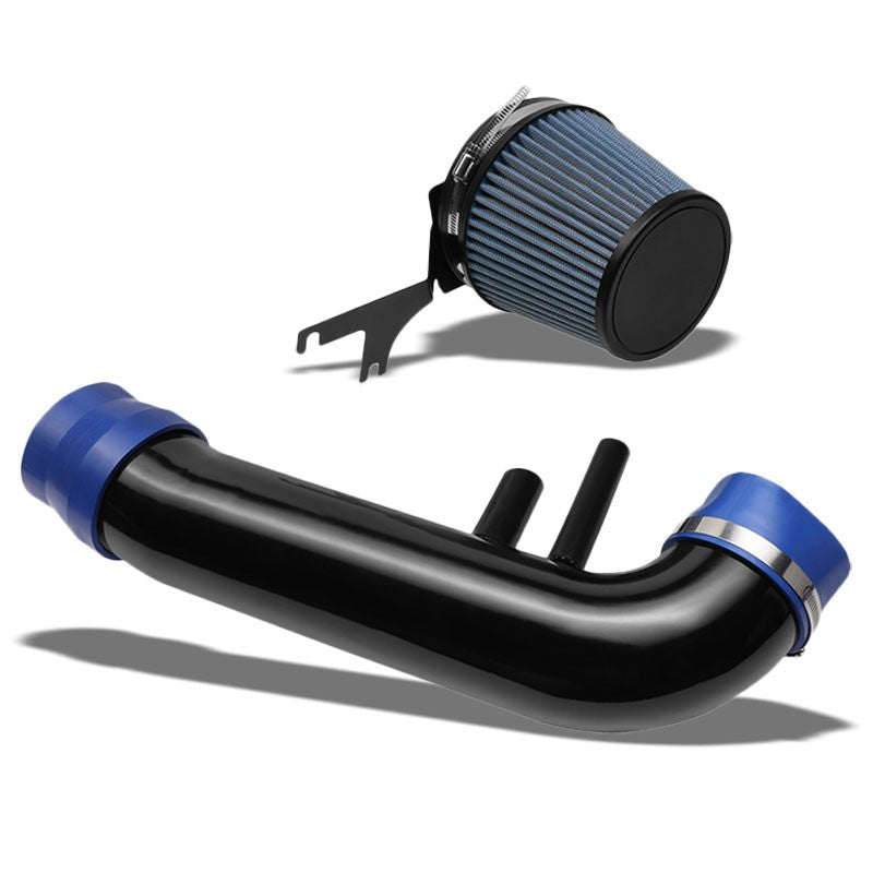 "3.5"" Black Pipe/Blue Filter+Shortram Air Intake Kit For 96-01 Mustang 4.6L V8-Performance-BuildFastCar"