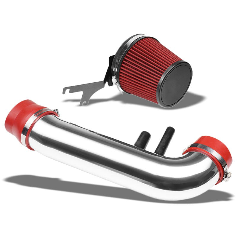 "3.5"" Polish Pipe/Red Filter+Shortram Air Intake Kit For 96-01 Ford Mustang 4.6L-Performance-BuildFastCar"