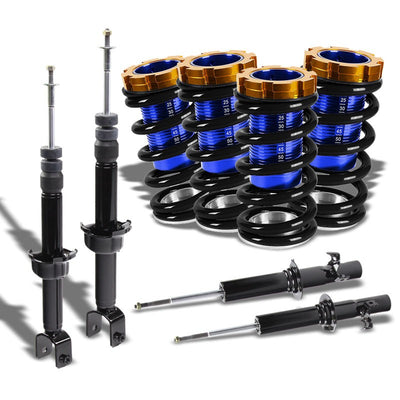 Adjustable Black Scaled Coilover+Black Gas Shock Absorbers TY22 For 88-91 Civic