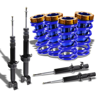 Adjust Blue Scaled Coilover Spring+Black Gas Shock Absorber TY22 For 88-91 Civic