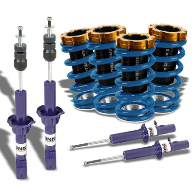 Adjust Blue Scaled Coilover Spring+Blue Gas Shock Absorbers TY33 For 88-91 Civic