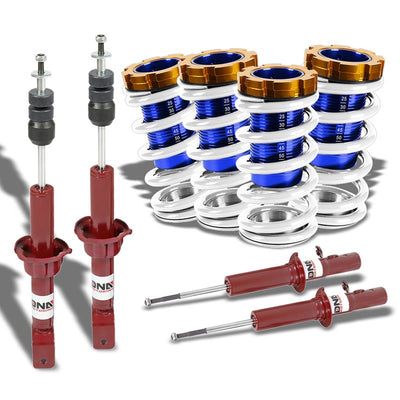 Adjust White Scaled Coilover Spring+Red Gas Shock Absorbers TY22 For 88-91 Civic