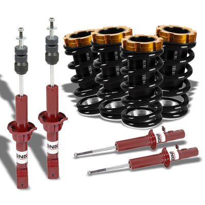 Adjust Black Scaled Coilover Spring+Red Gas Shock Absorbers TY33 For 88-91 Civic