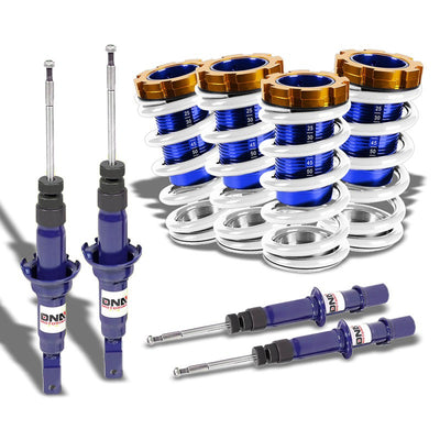 Adjust White Scaled Coilover Spring+Blue Gas Shock TY22 For 96-00 Civic EJ/EK/EM