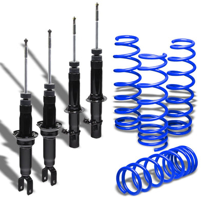 "DNA Black Shock Absorbers+Blue 1.75"" Drop Lowering Spring For Honda 96-00 Civic"