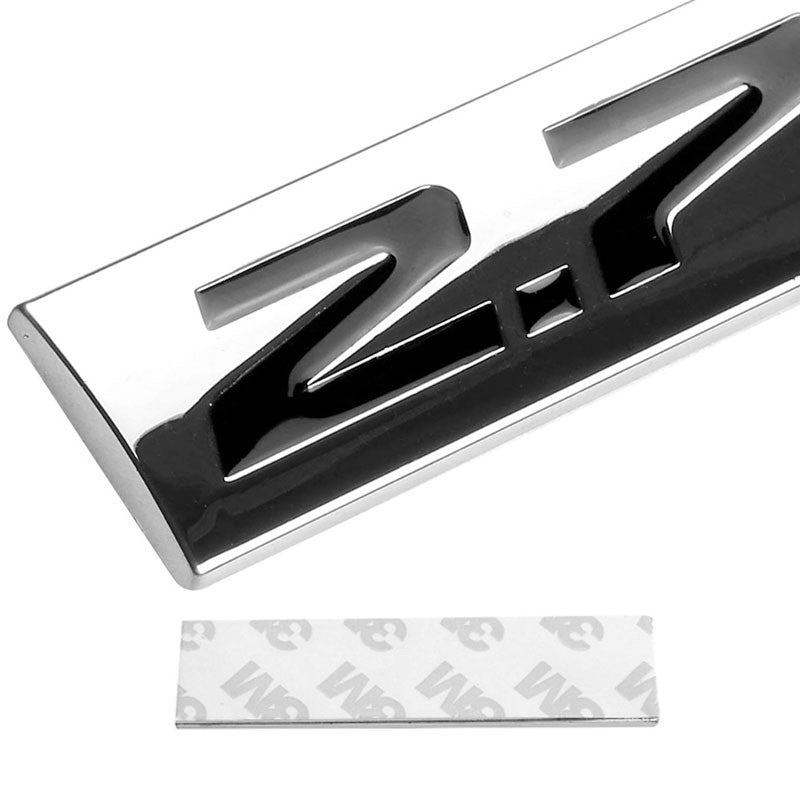 Black/Chrome 2.7L Logo Sign Back Trunk Trim Badge Decal Plate Emblem-Exterior-BuildFastCar