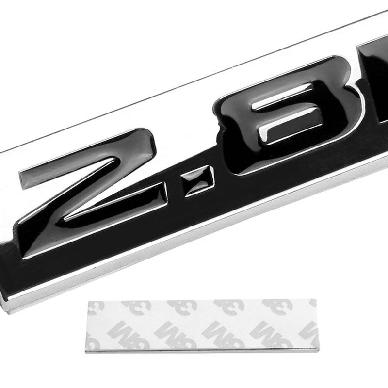 Black/Chrome 2.8L Number Plate Logo Car Rear Trunk Polished Badge Decal Emblem-Exterior-BuildFastCar