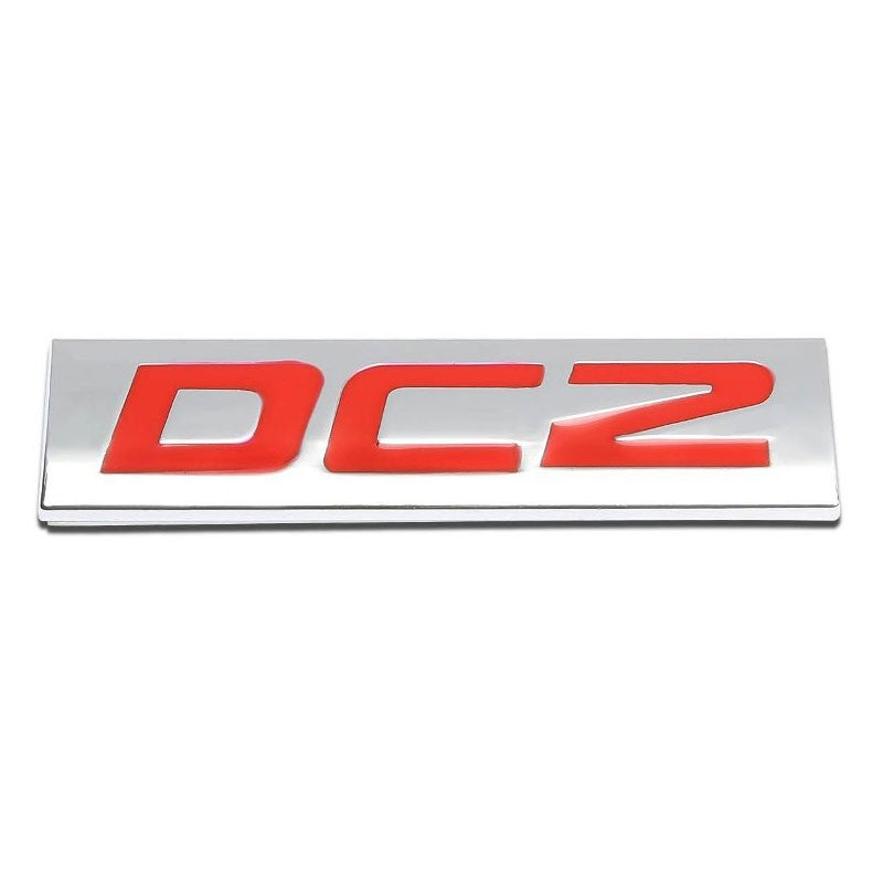 AUTO METAL GRILL TRUNK EMBLEM LOGO TRIM BADGE POLISHED RED TEXT LETTERING T