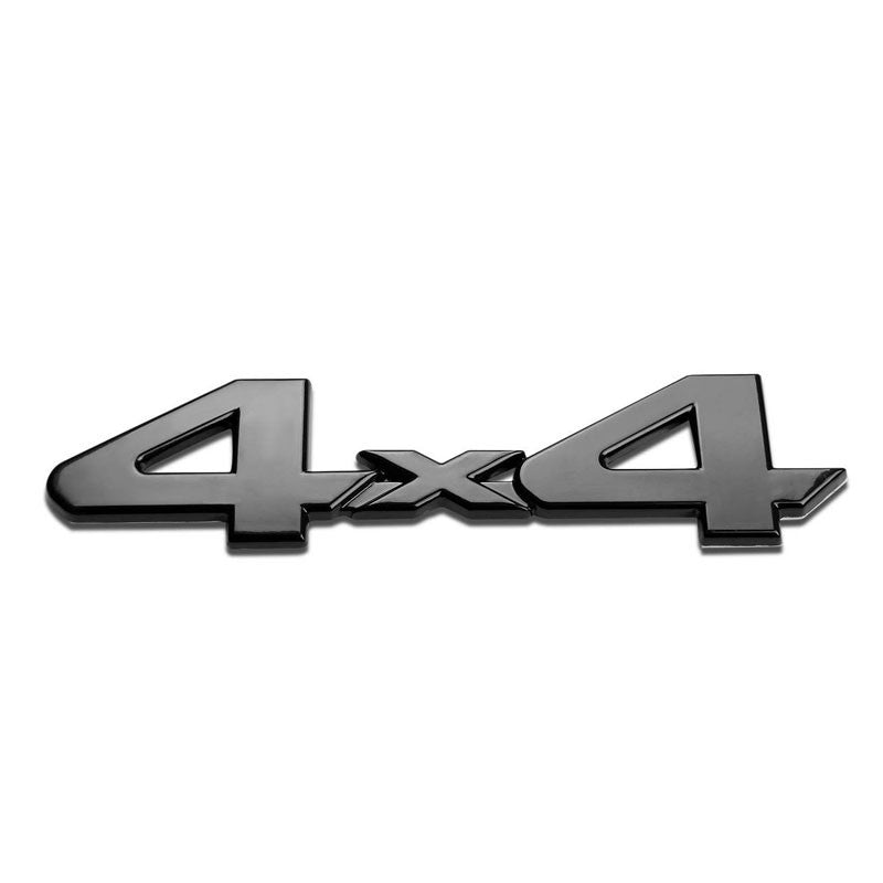 Black 4X4 Text Letter Sign Motor Sport Rear Trunk Badge Decal TRIM Emblem-Exterior-BuildFastCar