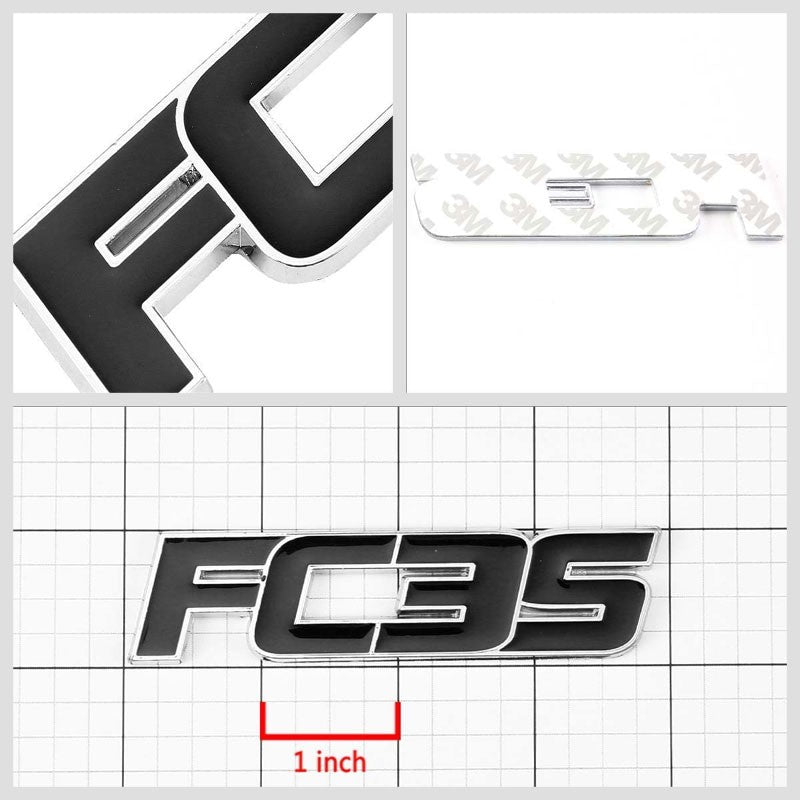 Black FC3S Trim Logo Sign Trunk Badge Emblem Metal Decal 3M Adhesive Sticker-Exterior-BuildFastCar