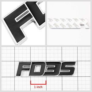 Black FD3S Trim Logo Sign Sport Coupe Trunk Badge Emblem Metal Decal 3M Sticker-Exterior-BuildFastCar