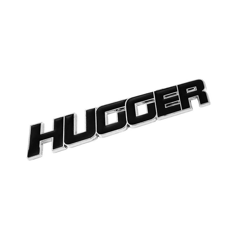 Black Hugger Name Logo Sign Header Badge Emblem Metal Plate Decal 3M Sticker-Exterior-BuildFastCar