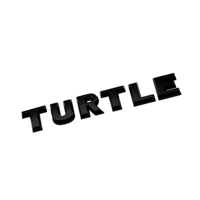 Black TURTLE Letter Logo Sign Auto Engine Badge Emblem Metal Plate Decal 3M-Exterior-BuildFastCar