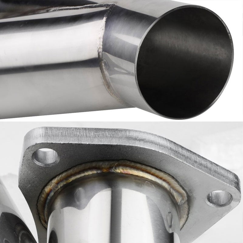 """RACING STAINLESS STEEL EXHAUST MANUAL CUTOUT CAT-BACK Y-PIPE DUMP 2.25/""""  C"""