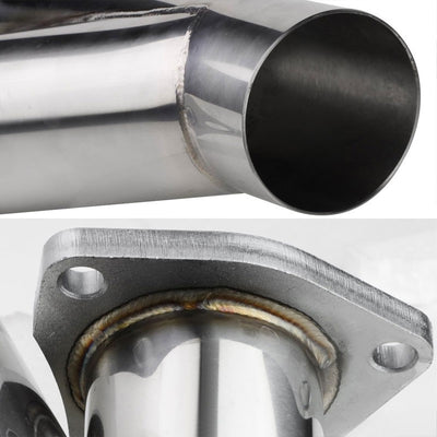 "2.50"" OD-2.50"" OD 16 Guage SS 3-Bolt Racing Exhaust Cutout For Y-Pipe Catback-Performance-BuildFastCar"