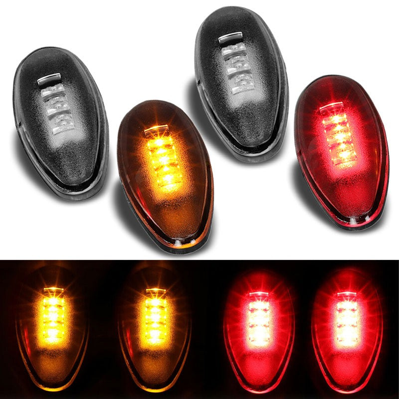 4x Clear LED Side Marker Light For 01-14 Silverado 2500/3500 HD Dually Fender-Lighting-BuildFastCar-BFC-SML-CHV01HD-CH