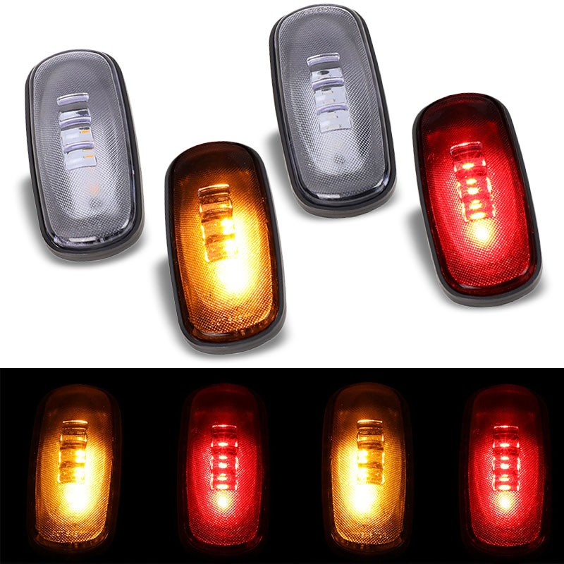 4x Clear LED Clearance Side Marker Light For 03-09 Ram 2500/3500 Dually Fender-Lighting-BuildFastCar-BFC-SML-DOD03RAM-CH