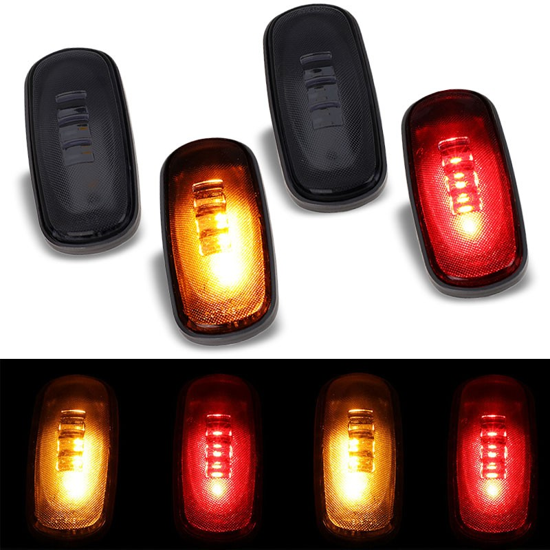 4x Smoke LED Clearance Side Marker Light For 03-09 Ram 2500/3500 Dually Fender-Lighting-BuildFastCar-BFC-SML-DOD03RAM-SM