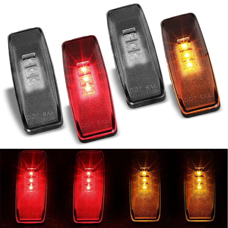 4x Clear LED Clearance Side Marker Light For Dodge 94-01 Ram 1500 Dually Fender-Lighting-BuildFastCar-BFC-SML-DOD94RAM-CH