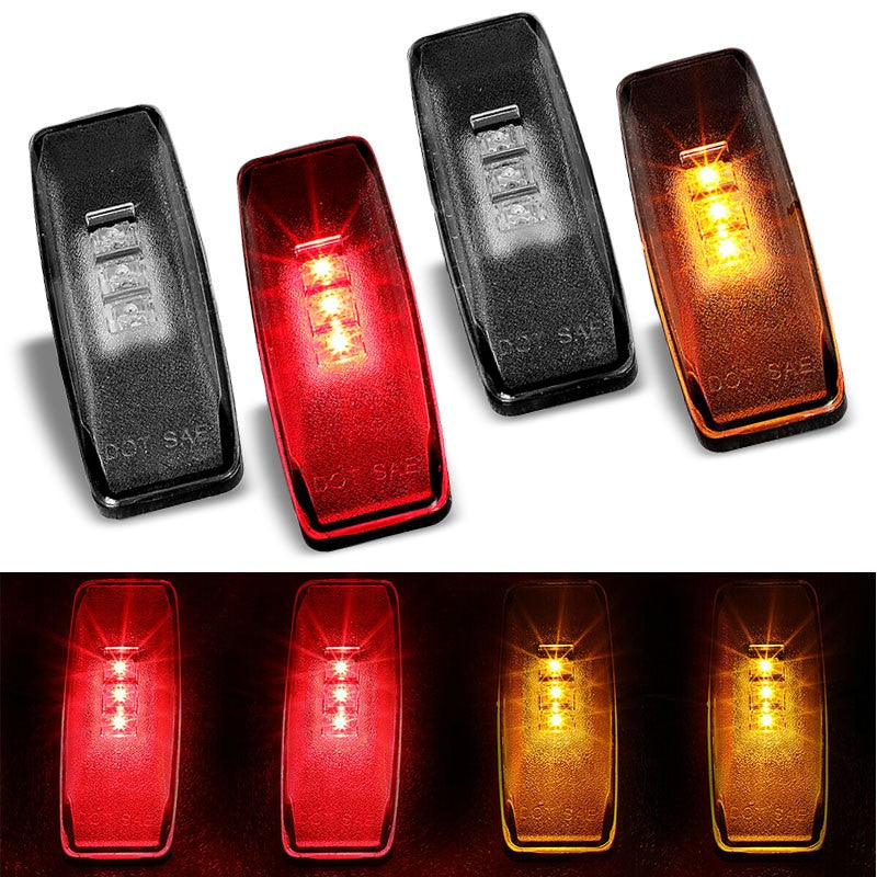 4x Smoke LED Clearance Side Marker Light For 94-02 Ram 2500/3500 Dually Fender-Lighting-BuildFastCar-BFC-SML-DOD94RAM-SM