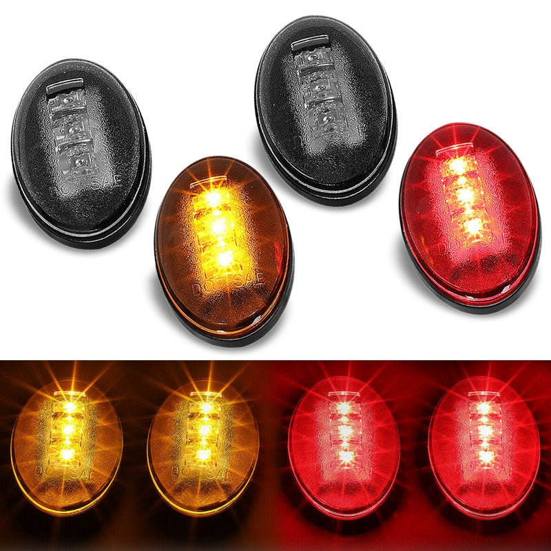 4x Smoke LED Side Marker Light For 99-10 Ford F250 F350 F450 SD Dually Fender-Lighting-BuildFastCar-BFC-SML-FOR99SD-SM