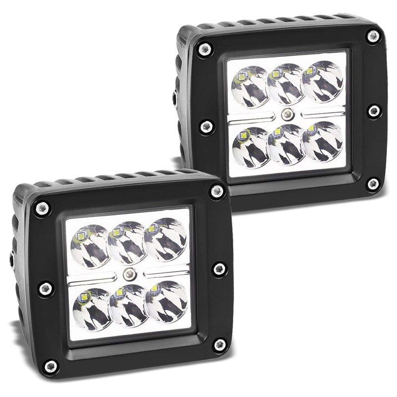 2x Top Mount Bull Bar/Roof Fog Light Lamp 6500K LED For Off Road ATV Truck SUV-Exterior-BuildFastCar