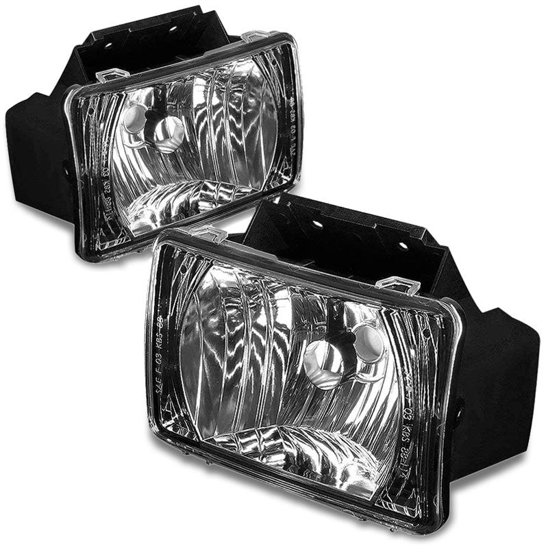 Front Bumper Driving Fog Light Lamp Black Housing Clear Lens For 04-12 Colorado-Exterior-BuildFastCar