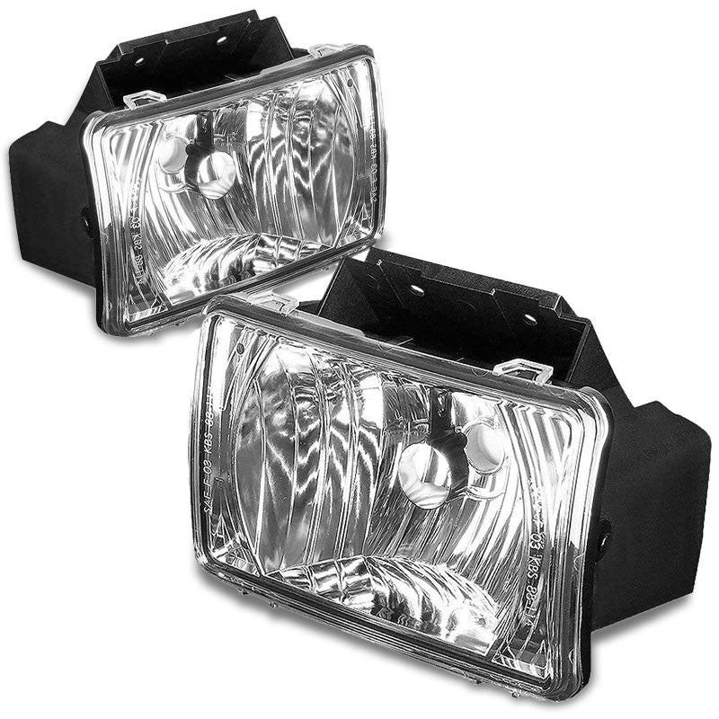 Front Bumper Driving Fog Light Lamp CHrome Housing Clear Lens For 04-12 Colorado-Exterior-BuildFastCar