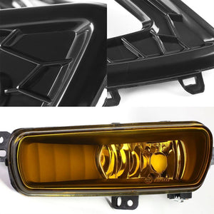White/Amber Amber Lens DRL+Turn Signal+Black Fog Light Lamp+Wire For 15-17 Focus-Exterior-BuildFastCar