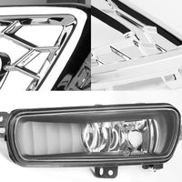 White/Amber Chrome Housing Clear Lens DRL+Signal+Fog Light Lamp For 15-17 Focus-Exterior-BuildFastCar
