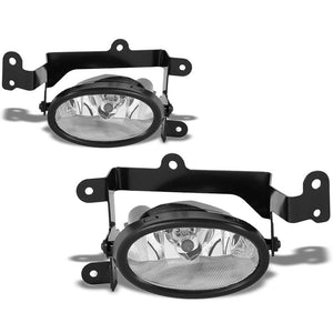 OE Style Front Left/Right Fog Light Lamp Chrome/Clear For 01-03 Honda Civic 1.7L-Lighting-BuildFastCar