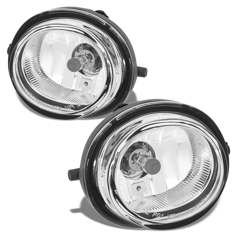 OE Style Front Left & Right Fog Light Lamp Chrome/Clear For 06-12 Mazda MX-5