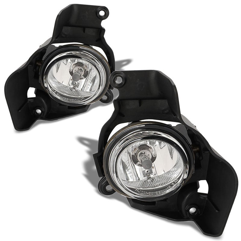 OE Style Front Left/Right Fog Light Lamp Chrome/Clear For 11-14 Mazda 2 1.5L