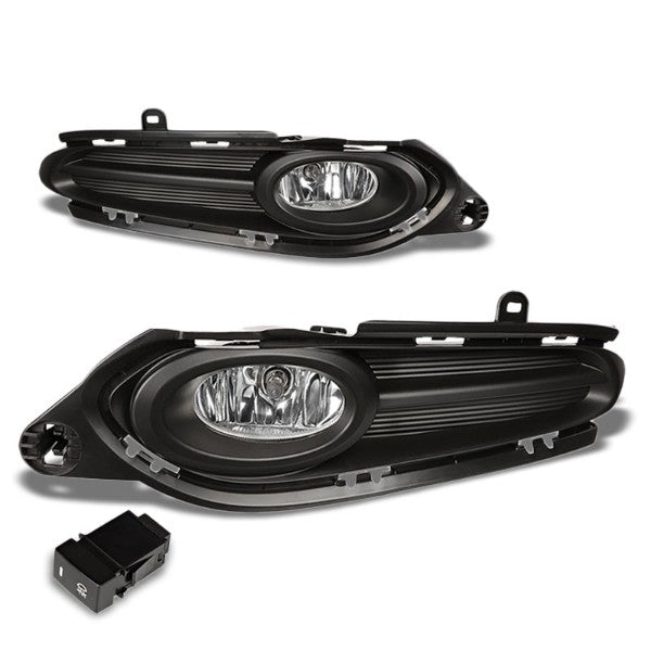 Clear Lens Front Bumper Fog Light Lamp+Bezel Cover+Switch For 16-18 HR-V Gen 2-Exterior-BuildFastCar