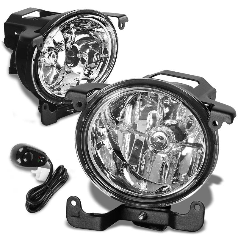 Front Bumper Driving Fog Light Lamp+Switch+Bulbs Clear Lens For 03-05 Accent 4Dr-Exterior-BuildFastCar