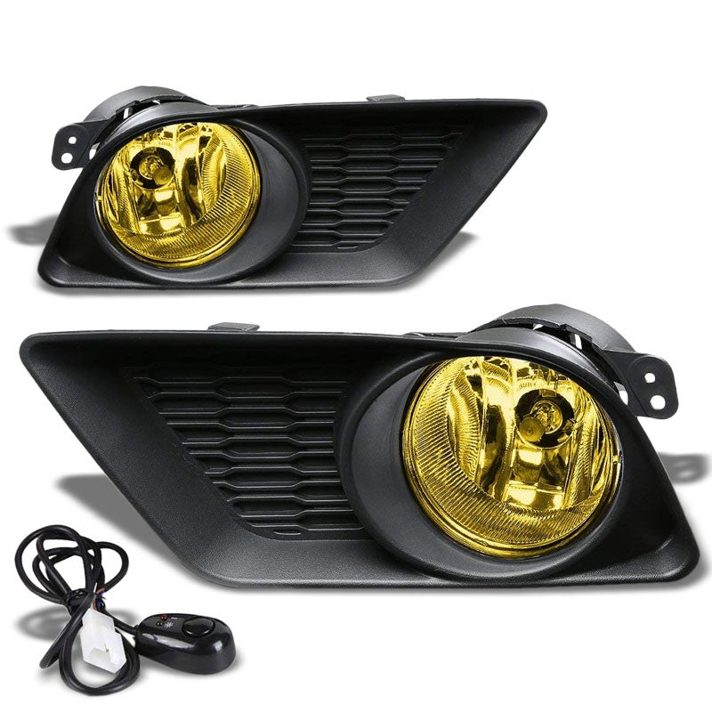 Front Bumper Drive Fog Light Lamp Black Bezel+Bulbs Amber Lens For 11-14 Charger-Exterior-BuildFastCar