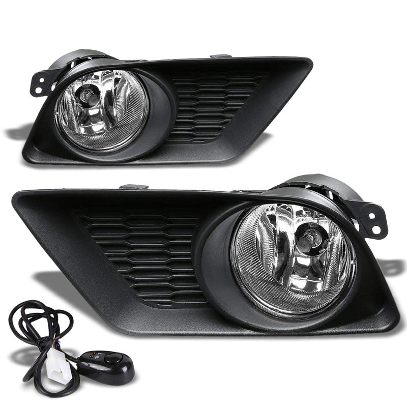 Front Bumper Drive Fog Light Lamp Black Bezel+Bulbs Clear Lens For 11-14 Charger-Exterior-BuildFastCar