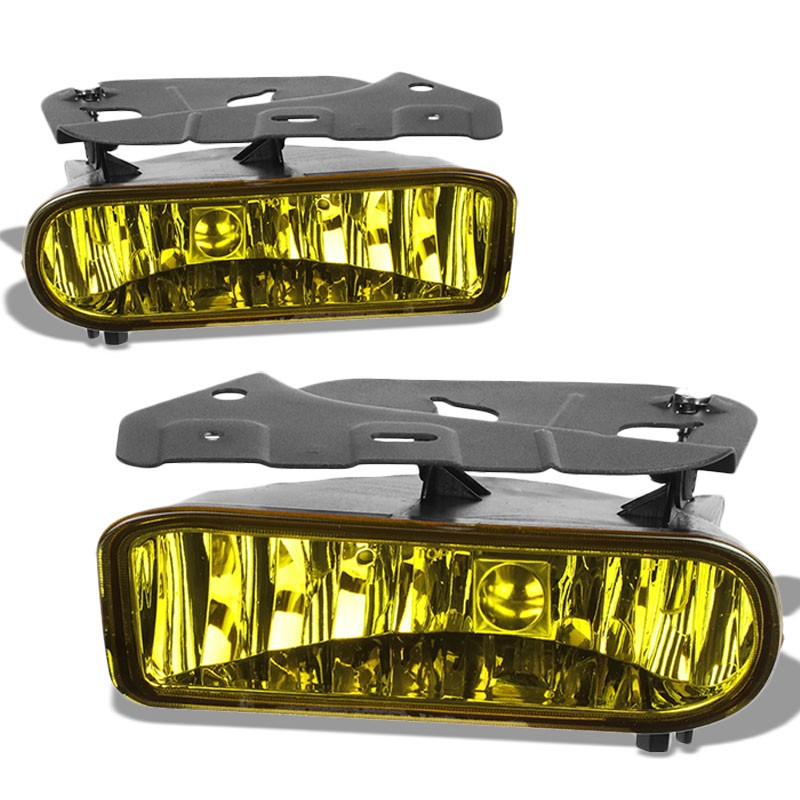Front Bumper Driving Fog Light Lamp Kit 899 Bulbs Amber Lens For 02-06 Escalade-Exterior-BuildFastCar