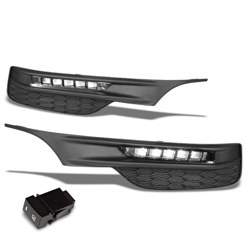 Front Bumper Driving Fog Light Lamp 12V 6000K LED Clear Lens For 16-17 Accord-Exterior-BuildFastCar