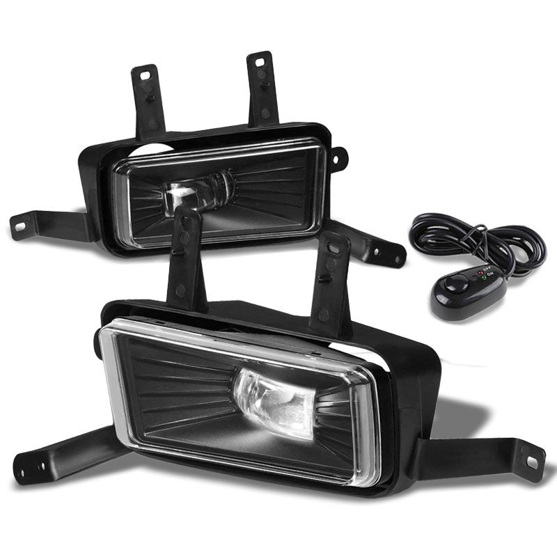 Front Bumper Driving Fog Light Lamp Kit 12V 6000K LED Clear Lens For 15-17 Tahoe-Exterior-BuildFastCar